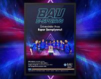 Bahçeşehir University E-Sports Poster Design