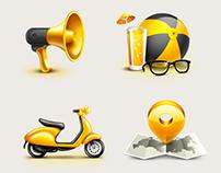 Набор иконок для баннерных блоков сайта beeline.ru