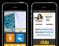 ASU Ridesharing app design