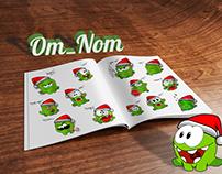 Om-Nom stickers