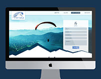 Sky Walk Paragliding web design