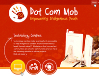 Dot Com Mob website concept design