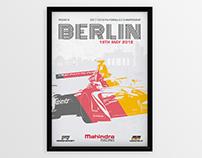 Mahindra Racing Berlin E-Prix 2018 Poster
