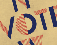 AIGA Get Out the Vote 2012 Posters