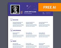 Free UI UX Designer Resume Template