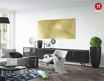 Interior - Living room in summer