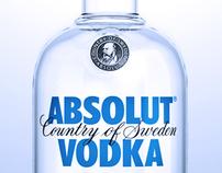 Absolut Vodka 3d image