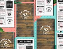 Pikas restaurant menu