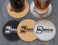 Durable Metal, Cork and Leatherette Coasters