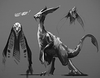 bw sketches