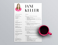 Free Super Minimalist Resume Template in Indesign