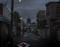 twilight city -  Nara,Japan