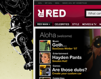 AOL RED (Teens ) Redesign & Mood board, 2007