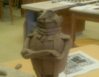 "Video sculpture process for student inspiration ""GRU"""