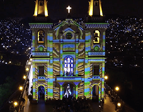 Rio mapping Festival Igreja da Penha