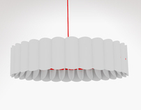 Paper lamp shade for pendant lighting