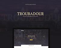 Troubadour Cafe Landing Page