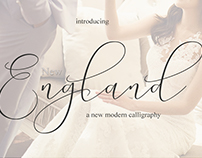 New England Calligraphy Font Script