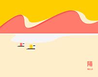 MUJI style minimalism illustration