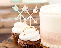 Boho Cupcake Toppers