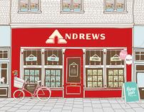Andrews Estate Agents Shopfront illustration