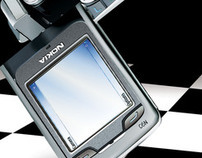 Nokia N-Series Phone Ad & Vector Illustration
