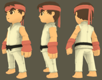 Ryu Low Poly Character Model