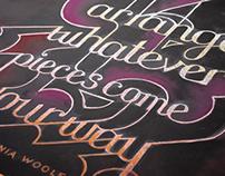 Virginia Woolf Chalkboard