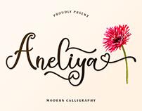 Free Aneliya Calligraphy Font