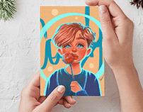 Illustrations for Postcards, Posters & Prints. Portrait