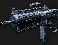 High Poly Machine Gun