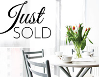 Real Estate Just Sold postcard template