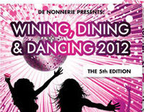 Flyer Wining, Dining & Dancing | Vineyard / De Nonnerie