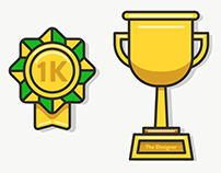 1000 Subscribers Trophy Illustration