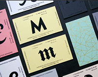 Identities & Silkscreen print stationery