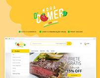 Hora d'Comer - Site e-commerce e Comunicação Visual
