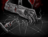 Slipknot: Prepare For Hell tour - T-Shirt illustration