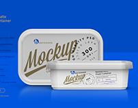 Plastic Container Mockup 200g