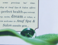 Anaf Spa & Salon Packaging and Brochure