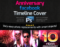 Anniversary Facebook Timeline Cover -Psd