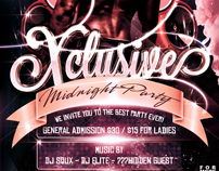 Xclusive Party Flyer -Psd