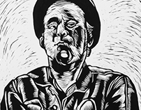 Linocuts by Tom Waits