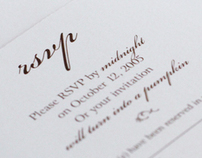 Personal Wedding Invitation and Program