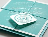 A&E Wedding Invitation