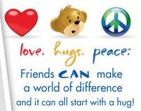 Build-A-Bear Love.Hugs.Peace