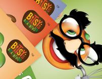 Bitsy's Brainfood Stickers-Illustration & Design