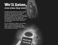 Kids Help Phone Magazine Ad (Student Project)
