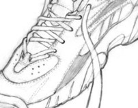 Running Shoe Drawing