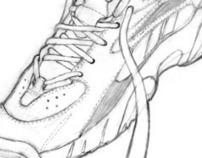 Running Shoe Drawing