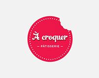 Identité visuelle pour À Croquer pâtisserie